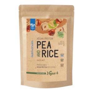 Nutriversum VEGAN- Pea&Rice Protein mogyoró -