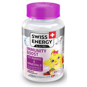 Swiss Energy Immunity Boost cukormentes gumivitamin gyerekeknek - 60db