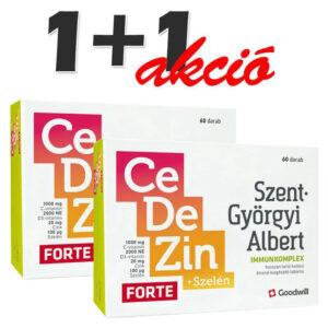Goodwill Szent-Györgyi Albert CeDeZin Forte+Szelén Immunkomplex 1+1 Akció - 60+60db