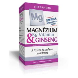 Interherb Magnézium + B6-vitamin + Ginseng tabletta - 30db
