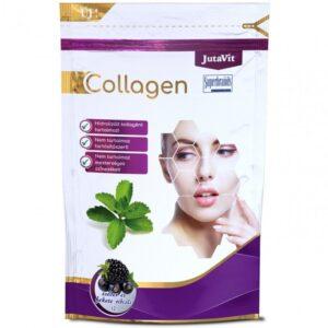 JutaVit Collagen feketeribizli-szeder ízű kollagén italpor - 367g
