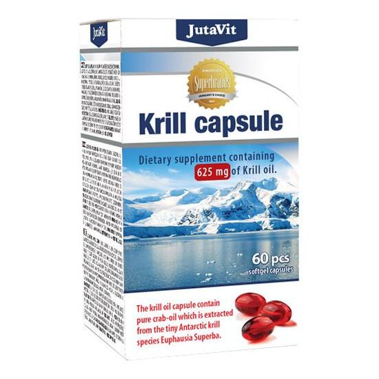 JutaVit Krill olaj 625mg lágyzselatin kapszula - 60db