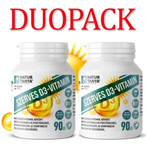 Natur Tanya Szerves D3-vitamin 4000NE, E-vitaminnal DUOPACK - 2x90db