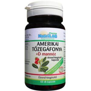 Nutrilab Amerikai tőzegáfonya+D mannóz kapszula - 60db