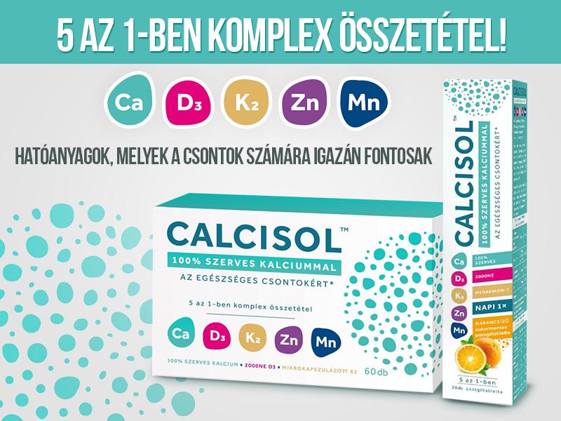 Támogassa csontjai egészségét a Calcisol tabletta és pezsgőtabletta komplex összetételével!