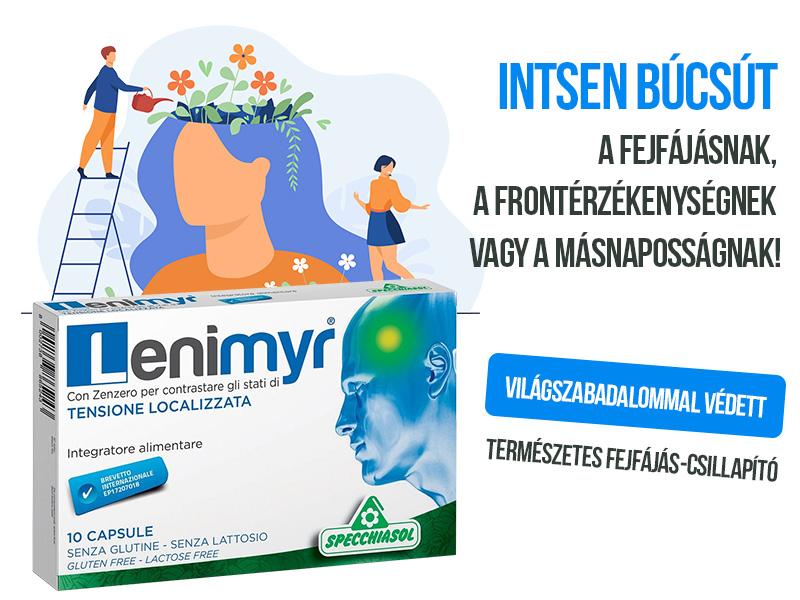 Felejtse el a fejfájást, a frontérzékenységet és a másnaposságot a Specchiasol Lenimyr kapszulával!