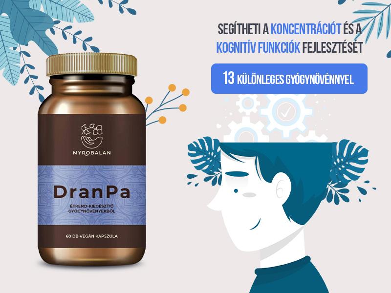 Javítsa agyi teljesítményét a Myrobalan DranPa agyserkentő és memóriajavító kapszulával!