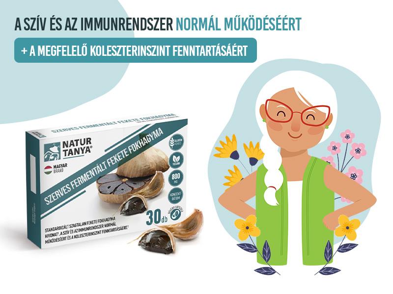 Támogassa keringését és immunitását a Natur Tanya® Fermentált Fekete Fokhagyma kapszulával!
