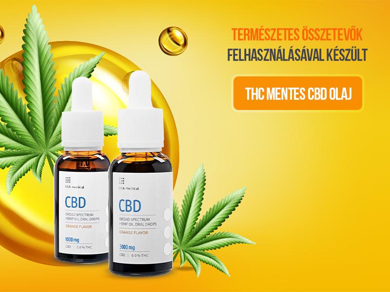 Tegye próbára a THC mentes, 100%-ban természetes USA Medical Prémium CBD olajokat!
