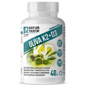 Natur Tanya Oliva K2+D3 vitamin kapszula - 40db
