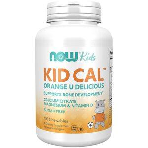 Now Kid Cal narancs ízű rágótabletta - 100db