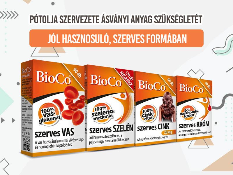 Válassza a leghatékonyabb felszívódású BioCo 100% szerves ásványi anyagokat!