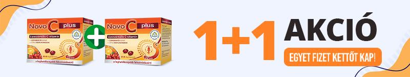 Novo C Plus liposzómás C-vitamin kapszula 1+1 akció