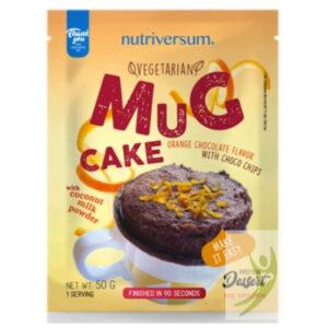 Nutriversum Dessert-Mugcake Vegan narancs-csoki darabokkal - 50g