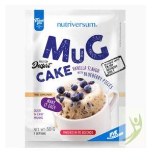 Nutriversum Dessert-Mugcake vaníliás-áfonya darabokkal - 50g