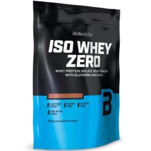 BioTech USA 100% IsoWhey ZERO Lactose free black biscuit - 500g
