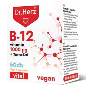 Dr. Herz B12-vitamin 1000 mcg + Szerves Cink kapszula - 60db