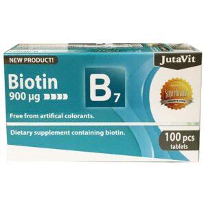 JutaVit Biotin - B7-vitamin tabletta - 100db