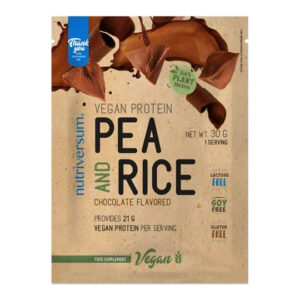 Nutriversum VEGAN Pea&Rice - borsó- és rizsfehérje csokoládé - 30g