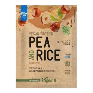 Nutriversum VEGAN Pea&Rice - borsó- és rizsfehérje mogyoró - 30g