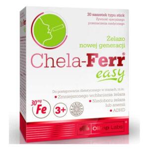 Olimp Labs Chela-Ferr easy málna ízű por - 30 tasak