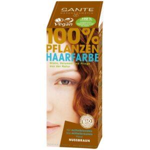 Sante Növényi hajfesték mogyoróbarna - 100g