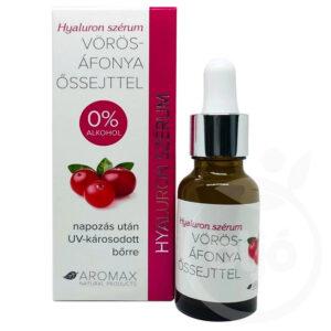 Aromax Hyaluron szérum vörösáfonya őssejttel - 20ml