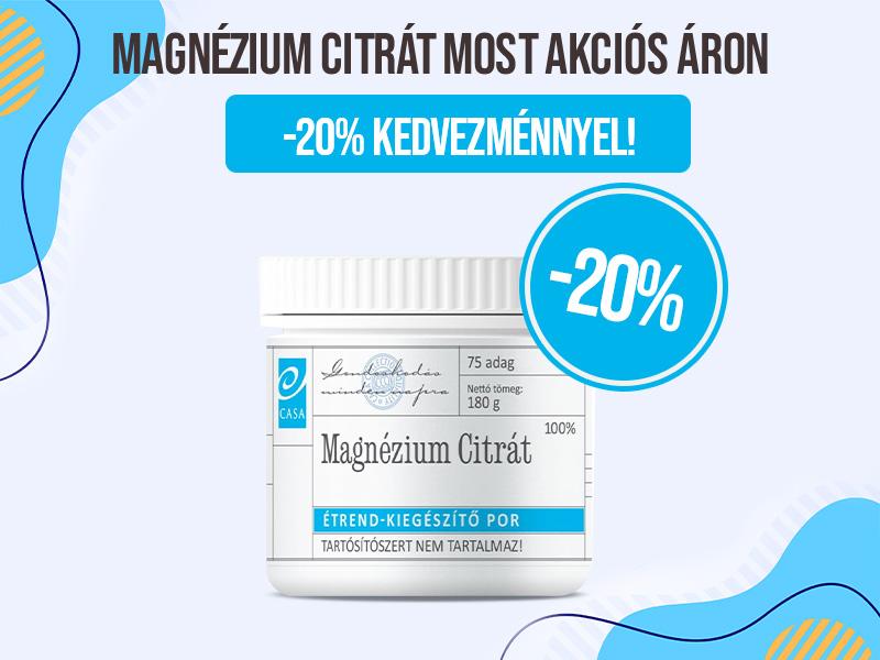 Rendeljen Casa Magnézium Citrát port 20% Kedvezménnyel!