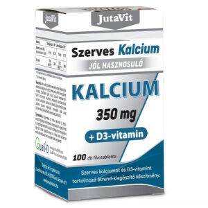 JutaVit Szerves Kalcium 350mg +D3 vitamin filmtabletta - 100db