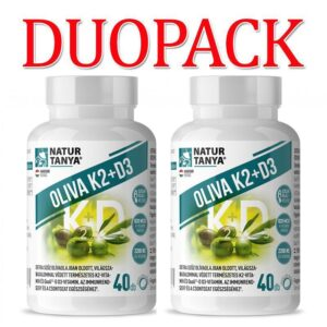 Natur Tanya Oliva K2+D3 vitamin kapszula DUOPACK - 2x40db