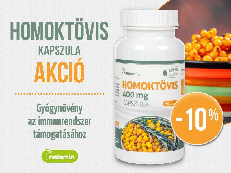 Támogassa immunitását és szervezetét a Netamin Homoktövis kapszulával!