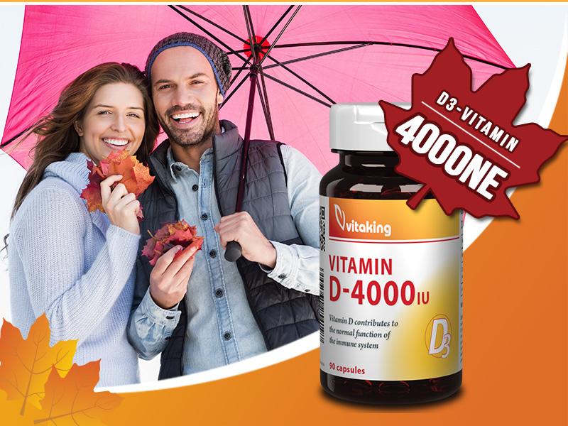 Fokozza ellenálló képességét a Vitaking D3-vitamin 4000NE kapszulával!