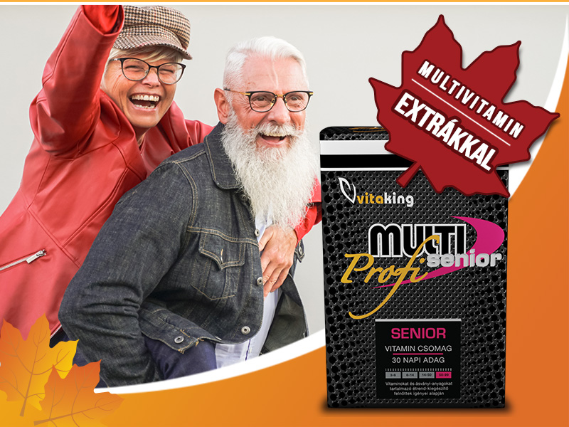 Maradjon egészséges és fiatalos a Vitaking Multi Senior Profi multivitaminnal!
